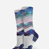 Stance Flex Womens Crew Socks Blue
