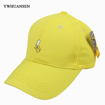 Trendy Winter Jacket YWHUANSEN 2018 New cotton cap Banana fruit embroidery baseball cap fashion men and women adjustable adult sunscreen Snapback hat AT_92_12