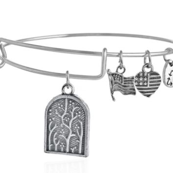 Alex and Ani  style life tree pendant charm bracelet, a perfect gift !