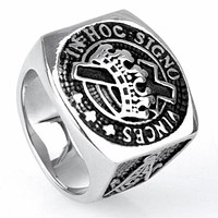 Vintage Knights Templar Masonic Ring