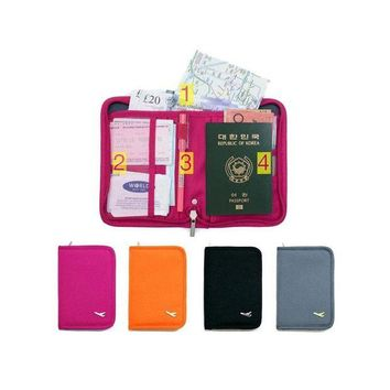 DCCKU62 Casual 2017 Card Bags Unisex Canvas Travel Passport Holders Multifunctional Travel Accessory