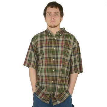Stanley Classic-Fit Madras Plaid Casual Button-Down Shirt
