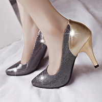 Stylish Diamond Low Heels