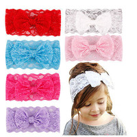 1 Pcs Hairband Toddler Lace Bowknot Headband Headwear Accessories for Kids Girls