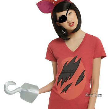 Licensed cool Foxy Fox Five Nights at Freddy's Adult Headband Ears Faux Hook Shirt Costume XS