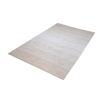8905-031 Delight Handmade Cotton Rug In Beige And White - 5ft x 8ft