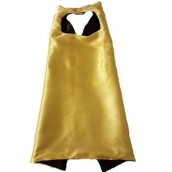 Plain Yellow and Black Reversible Superhero Cape