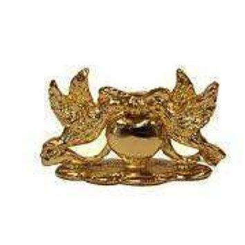 Set of 12 Place Card Holders - Gold Love Birds