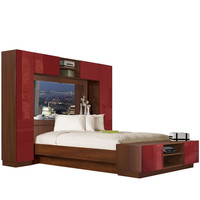 Chilton Pier Wall Bed with Mirrored Headboard