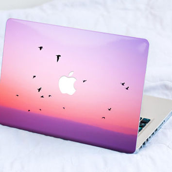 Macbook Skin Macbook Pro Skin Macbook Air Skin Macbook Cover Macbook Decal Macbook Sticker Laptop Skin Pink Moon Pastel Sunset Pink Moon