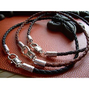 Men's  Leather Necklace, Necklaces for Men, Braided Leather Necklace, Mens Necklaces, Guys Necklaces, Braided, Leather, Necklace, for Men