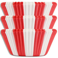 Red Circus Stripe Baking Cups