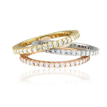 Diamond 60CT Eternity Ring Stackable Wedding Band by Pompeii3