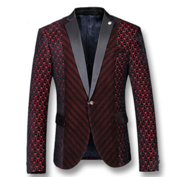 Men Notched Lapel Blazers Coats Jackets Herren Anzug Veste De Loisir Men's Casual Slim Fit Long Sleeved Blazers Men BL
