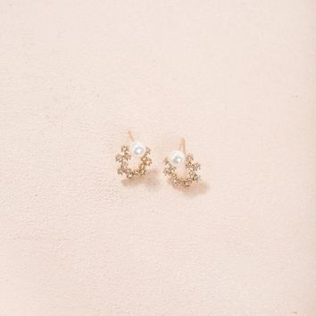 Alicia Mini Crystal Wreath Earrings