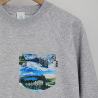 ANDCLOTHING — Winter Mountain Pocket Sweater