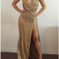 Halina Sequin Luxury Dress
