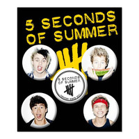 5 Seconds Of Summer Button Set