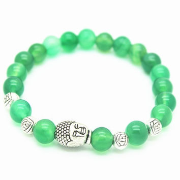 Buddha Handmade Bracelet (Light Green)