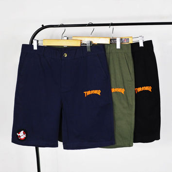 Casual Rinsed Denim Cotton Skateboard Shorts [10206144583]