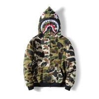 Men's Fashion Winter Camouflage Patchwork Zippers Hoodies [11086495431]