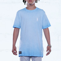 Cerulean Antique Wash Elongated T Shirt