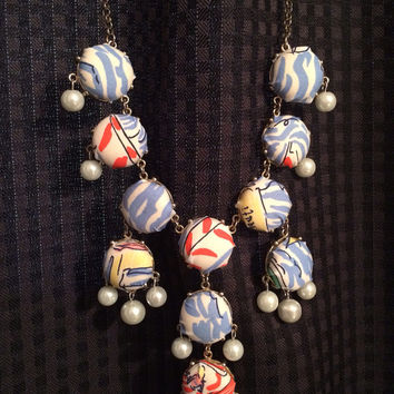 Lilly Pulitzer Inspired Bubble Necklace