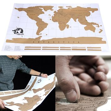 Travel Scratch World Map Personalized World Map Poster Traveler Vacation Log National Geographic Wall Sticker Home Decor Gift