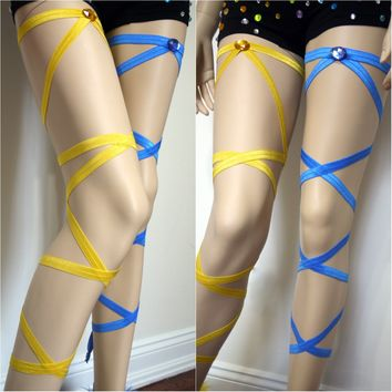 Sun and Moon Leg Wraps Dance Halloween Costume Garter Accessories