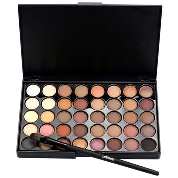 Hot Makeup Eye Shadow 40 Earth Colors Matte Pigment Eyeshadow Palette Cosmetic