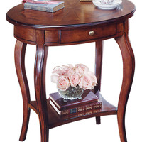 Butler Home Decor Oval Accent Table Finish Type - Light Plantation Cherry