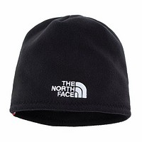 The North Face 2018 winter new men and women wool hat earmuffs knit hat black