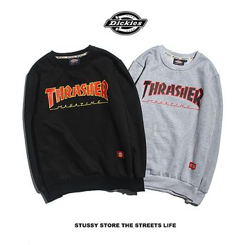 Dickies x ThrasherPrinted Loose Version Plus Cashmere Sweater M---XXL