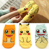 Pokemon Pikachu Nintendo Character Socks Pocket Monsters Women Kid Socks