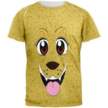CREYCY8 Anime Dog Face Inu All Over Adult T-Shirt