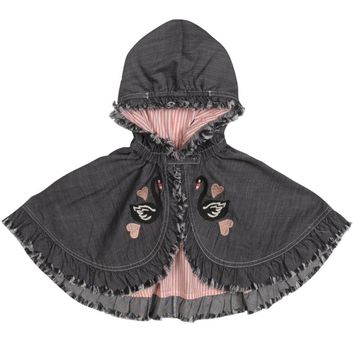Paper Wings Baby Girl Frilled Cape