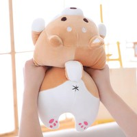Good Quality Cute Fat Shiba Inu Dog Plush Toy Stuffed Soft Kawaii Animal Cartoon Pillow Lovely Gift for Kids Baby Children