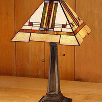 Arts and Crafts Stained Glass Table Lamp 2 1547