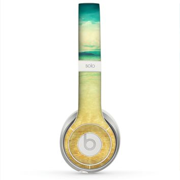 The Vintage Vibrant Beach Scene Skin for the Beats by Dre Solo 2 Headphones