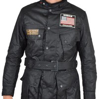 BARBOURCINCINNATI WAX STEVE MCQUEEN JACKET - BLACK