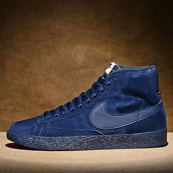 NIKE BLAZER LOW PRM VNTG Woman Men Fashion High-Top Old Skool Flats Shoes