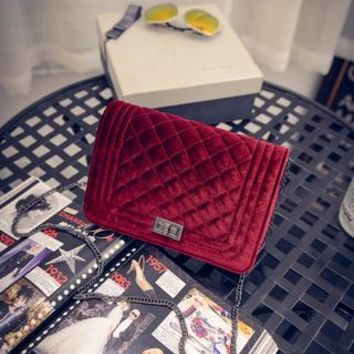 Plaid Chain Fashion snakeskin Velvet women leather handbags day clutch women's bag  small shoulder bag women messenger bags