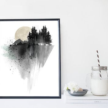 Shop minimal decor on wanelo for Minimal art wall