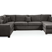 Hani Sectional, Charcoal, Sectionals