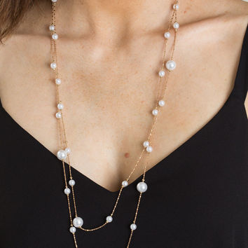 Louisa Long Pearl Necklace