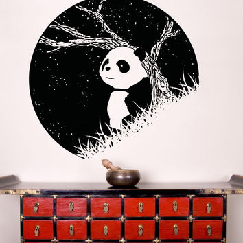 Vinyl Wall Decal Sticker Panda at Night #OS_AA1552