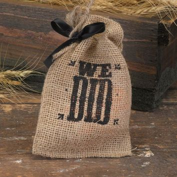 Pkg/25 We Did Burlap Favor Bags