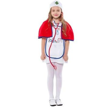 New style Halloween party Occupation Uniform role play Doctor head chief nurse child kids cosplay costume for Purim Carnival day