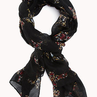 Ornate Cross Print Scarf