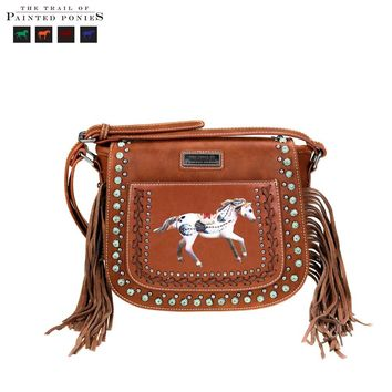 Montana West 'The Trail Of Painted Ponies' Collection Crossbody Saddle Bag (Exclusive)